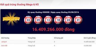 giá trị giải jackpot vượt 16 tỷ