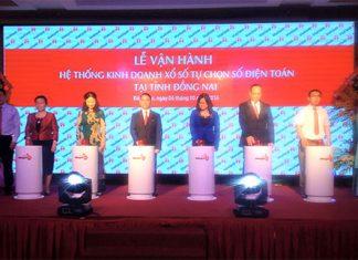 Lễ vận hành hệ thống kinh doanh xổ số tự chọn số điện toán tại Đồng Nai