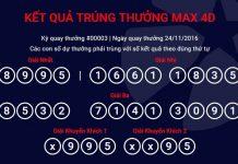kết quả xổ số max4d ngày 24/11/2016