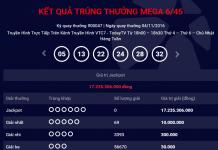 kết quả xổ số mega 645 thứ sáu ngày 01112016