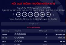 ket qua xo so mega 645 chu nhat ngay 812017 cua vietlott